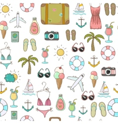 On vacation summer seamless pattern vector
