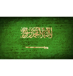 Flags saudi arabia with dirty paper texture vector
