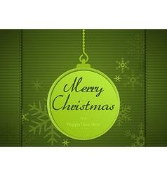 Green Xmas Greeting Card vector image