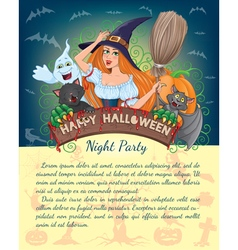 Halloween banner with text vector