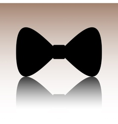 Black bow tie icon vector