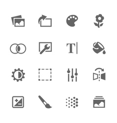 Simple image settings icons vector