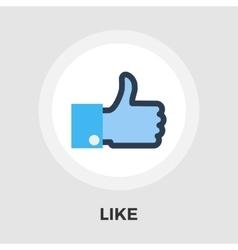 Like flat icon vector image
