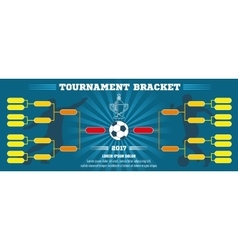 Soccer banner european football tournament vector