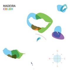 Abstract color map of madeira vector