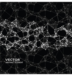 Abstract particles on black background vector