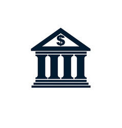 banking conceptual logo unique symbol banking vector image vector image