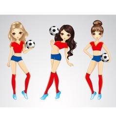 Beauty spain soccer girls vector