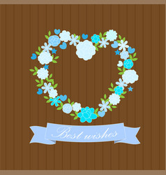 Best wishes card with flowers vector