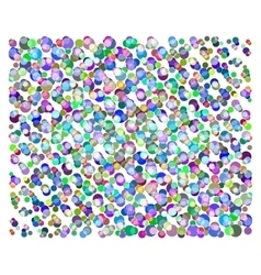 Bright background of colorful circles vector image vector image