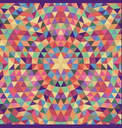 Circular geometrical triangle mandala background vector