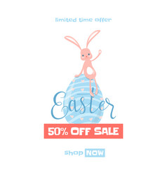 easter spring sale vector image vector image