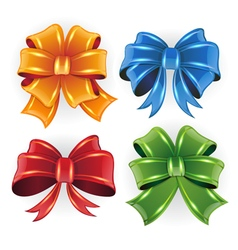 Festive bows vector image vector image