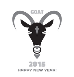 Goat logo - merry christmas and happy new year vector
