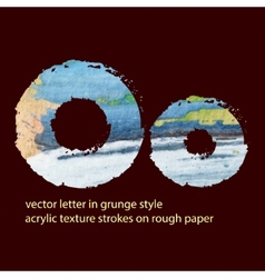 grungy letter O vector image