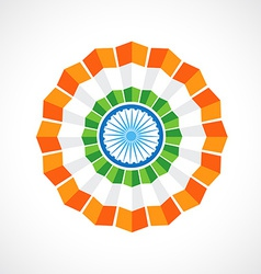 indian flag badge vector image vector image