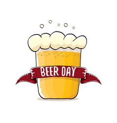 international beer day label vector image vector image