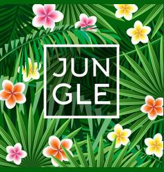 jungle poster textile print vector image