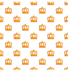 King crown pattern seamless vector