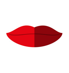 Lips with lipstick icon image vector