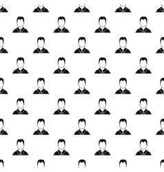 Man in shirt avatar pattern simple style vector