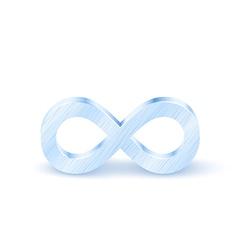 Metal infinity symbol vector