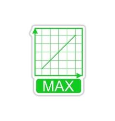 Paper sticker on white background schedule of vector