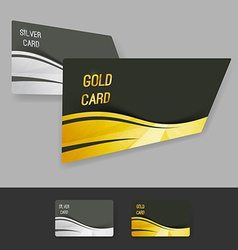 Premium gold silver member card collection vector image