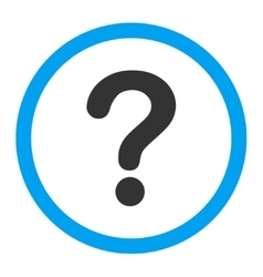 Question flat blue and gray colors rounded vector