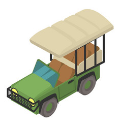 Safari car icon isometric style vector