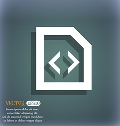 Script icon symbol on the blue-green abstract vector image