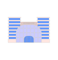 shops stores and supermarket buildings flat vector image