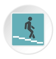Sign escalator icon flat style vector