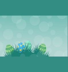 silhouette of easter egg on green backgrounds vector image vector image