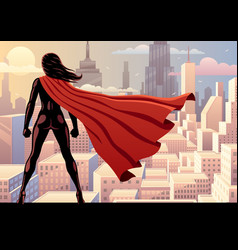 super heroine watch 2 vector image