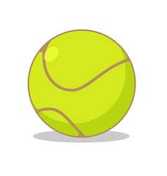 Tennis ball isolated Sports accessories for tennis vector image vector image