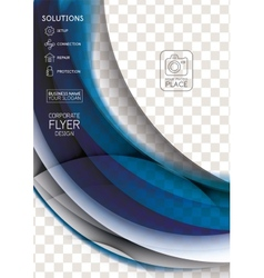 Wave abstract corporate flyer print design vector