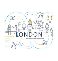 Website banner and landing page london vector