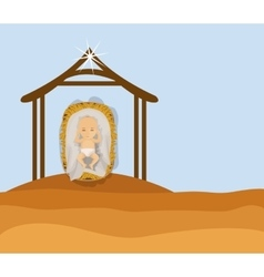 Baby jesus cartoon of holy night design vector