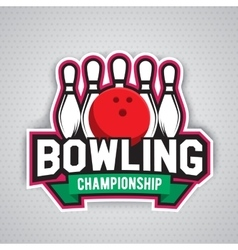 Ultimate bowling chanpionship logo design vector