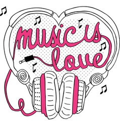 Music is love vector image