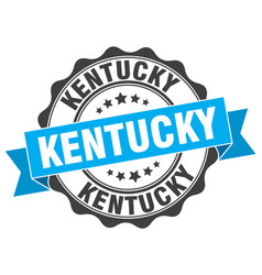 Kentucky round ribbon seal vector