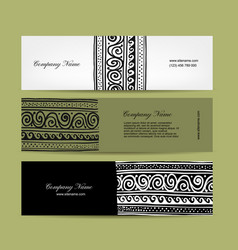 Banners design ethnic handmade ornament vector