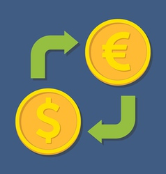 Currency exchange dollar and euro vector