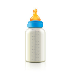 Baby bottle isolated vector