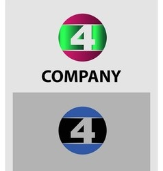 Logo number 4 design template vector