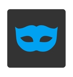 Privacy mask flat blue and gray colors rounded vector