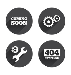 Coming soon icon repair service tool and gear vector