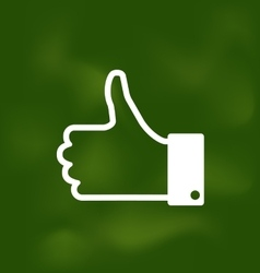 Icon of thumb up on school board vector