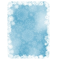 Blue christmas background with snowflakes eps 8 vector